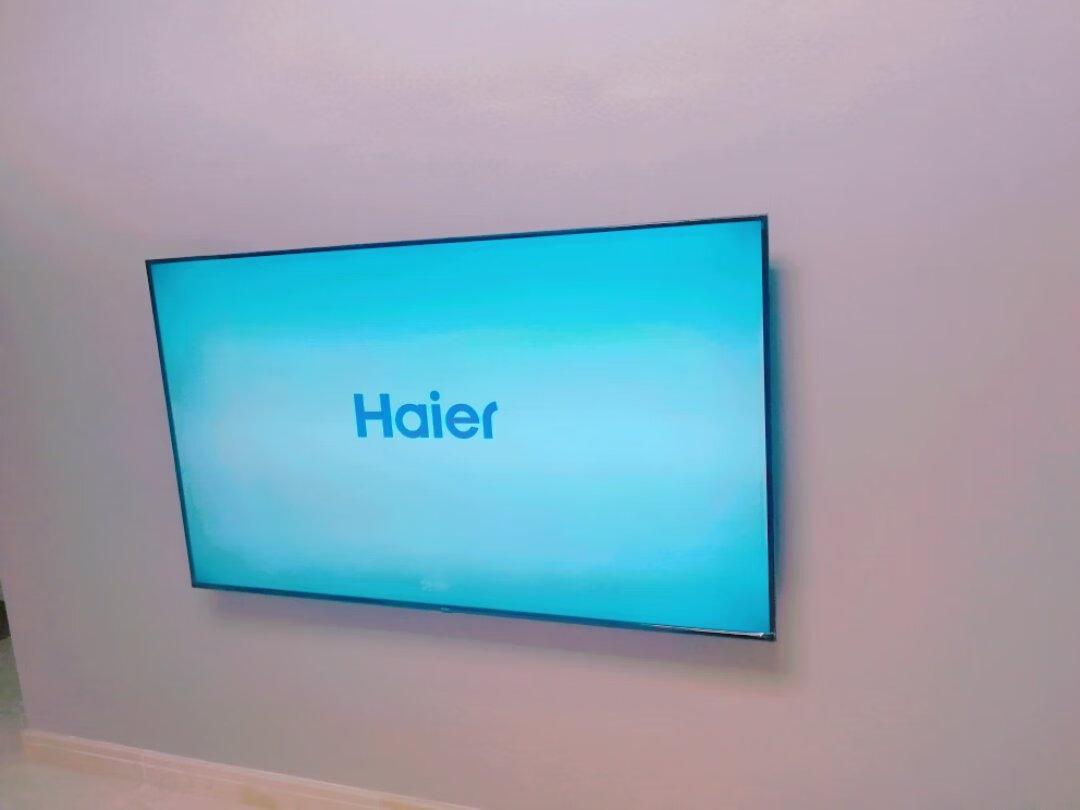 海尔65英寸超薄全面屏,免遥控人工智能电视