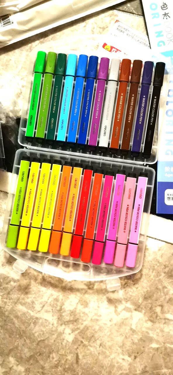 得力(deli)彩色白板笔套装12色便捷易擦儿童涂鸦绘画办公教学会议