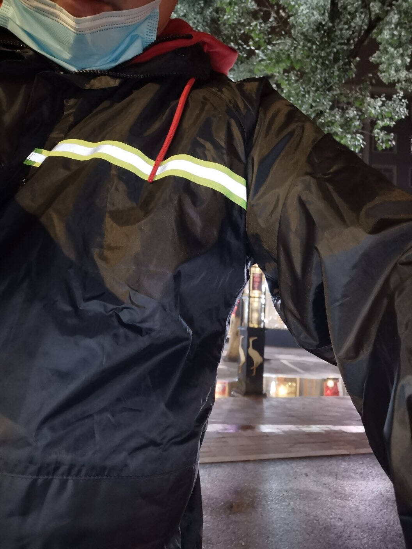 天堂伞雨衣雨裤套装电动车摩托车双层加厚雨披男女式成人分体雨衣户外自行车外卖雨披防雨衣带反光条2XL码(175-180)