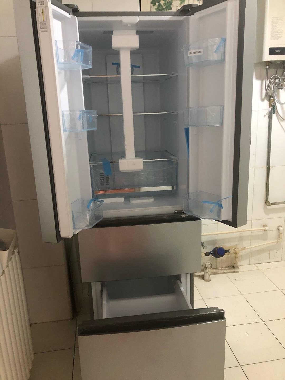Haier/海尔冰箱343升风冷无霜多门家用电冰箱法式四门三档变温节能静音BCD-343WDPM