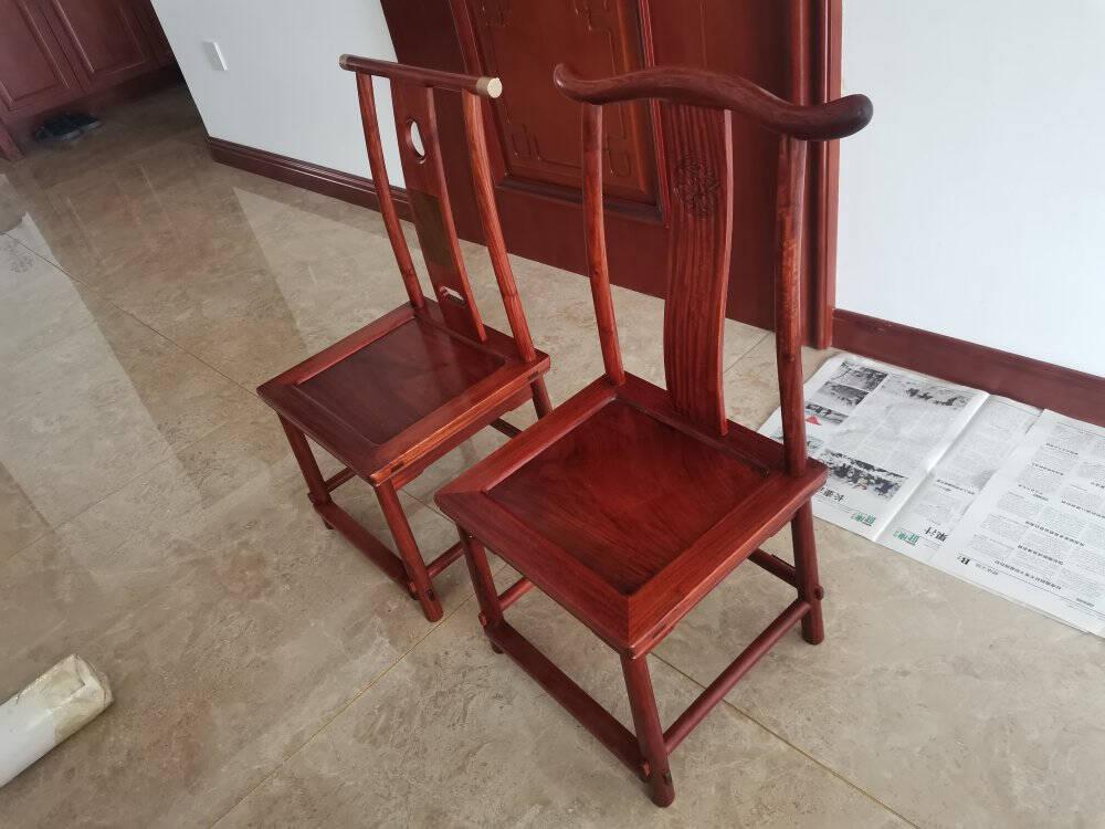 高居明作红木家具缅甸花梨(学名:大果紫檀)中式实木椅小孩椅小凳子矮凳换鞋凳青梅竹马椅一对青梅竹马椅(一对)