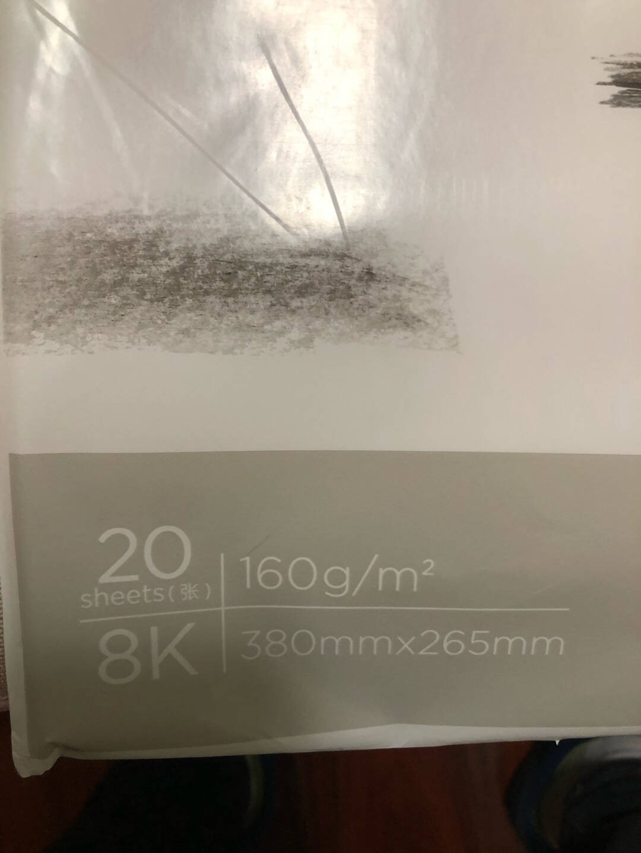 得力(deli)8K素描纸180g素描本绘画纸彩铅画美术写生手绘临摹学生用初学者速写铅画纸8开20张加厚73613