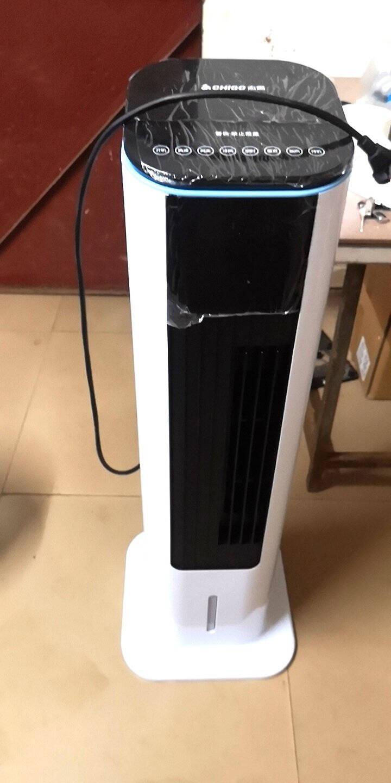 志高(CHIGO)冷暖两用空调扇冷风扇智能家用制冷机取暖器冷暖风机电暖器水风扇遥控小空调冷塔扇尊享遥控款『耀月白』