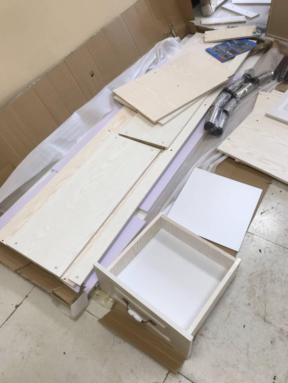 简易橱柜组装经济型灶台柜碗柜组装不锈钢厨房柜家用厨柜简约洗菜柜水槽柜储物柜140cm平面(长可选1.3米)