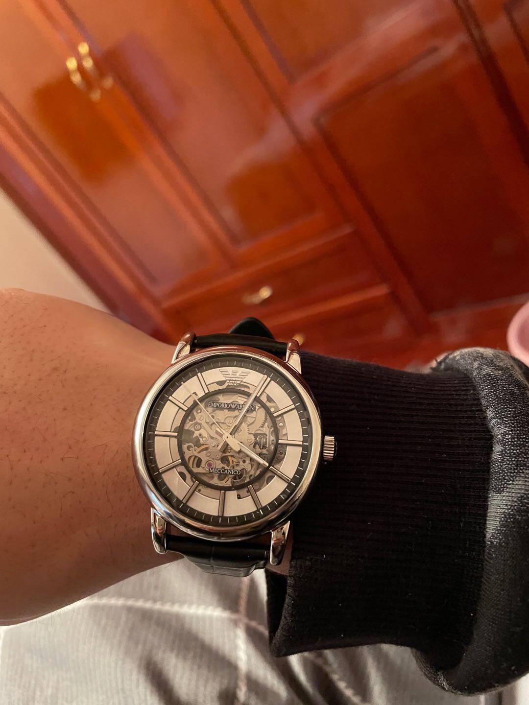 阿玛尼(EmporioArmani)手表时尚休闲皮带石英时尚腕表男士腕表AR2500
