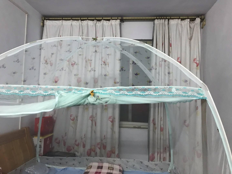 南极人NanJiren蒙古包蚊帐加密三开门1.8米床双人家用拉链坐床式有底升级版蕾丝花边可挂风扇