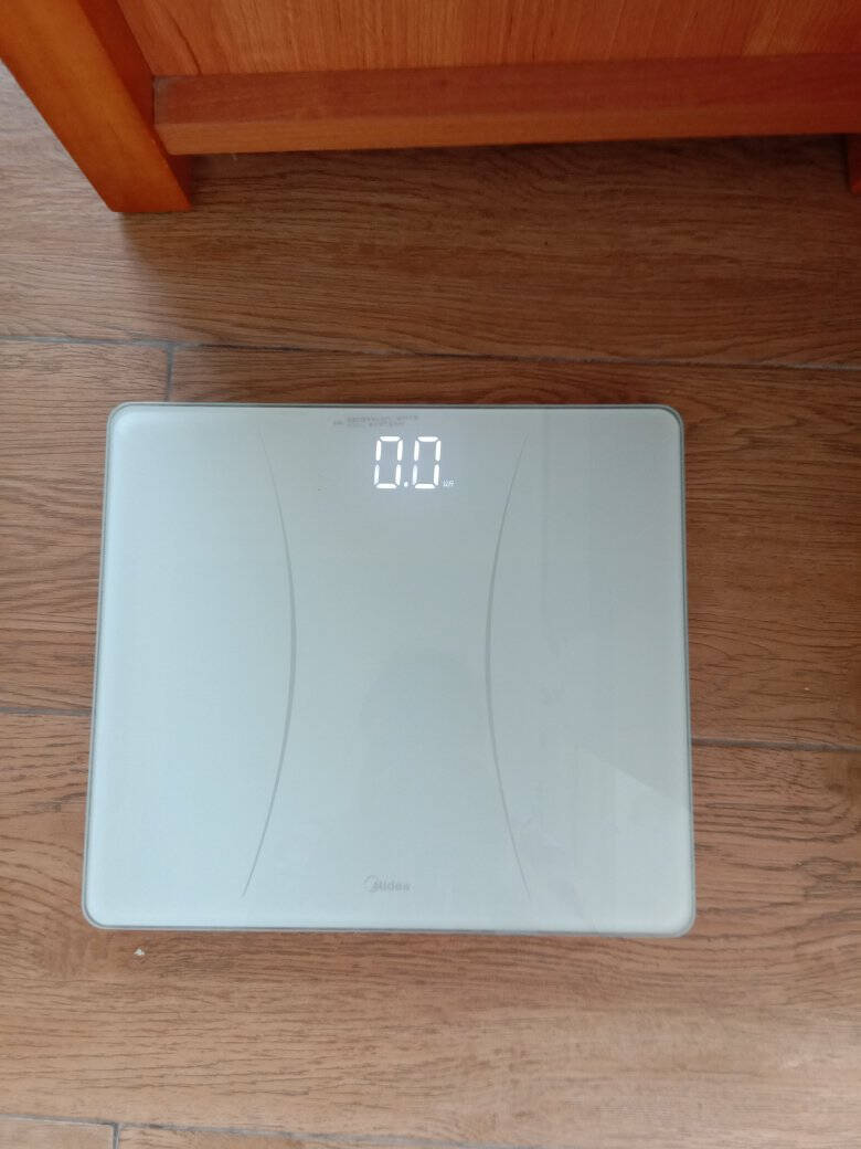 美的体重秤USB充电精准家用成人健康称人体电子秤智能体重秤减重提醒男女胖瘦对比精准小米你白色