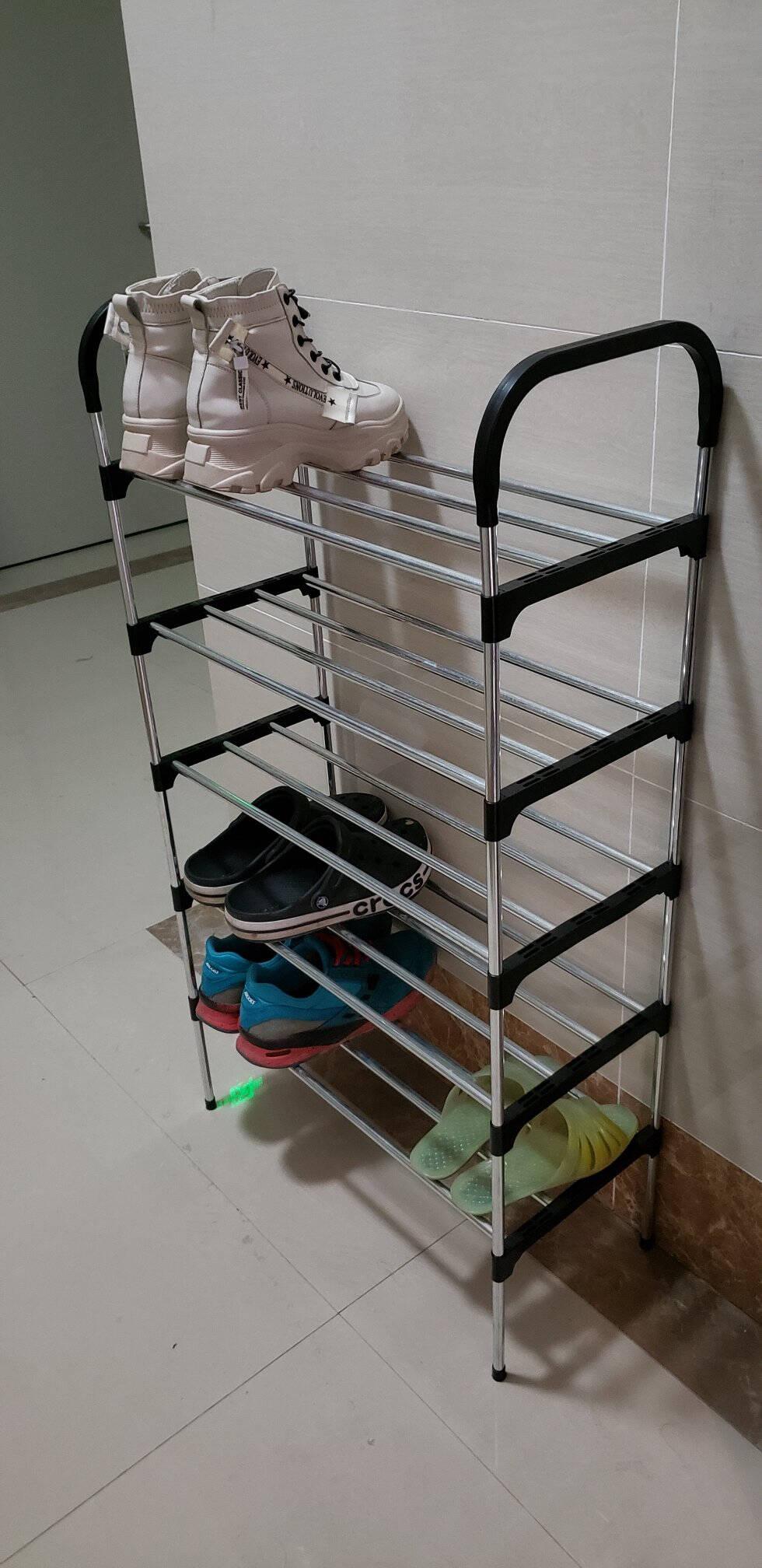 安尔雅简易塑料鞋架多层家用收纳柜鞋柜组装宿舍鞋架子