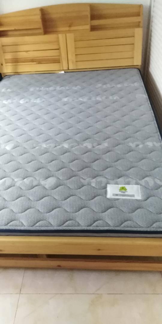 喜临门床垫棕垫天然3D黄麻透气硬棕垫软硬两用格雷1800*2000*100