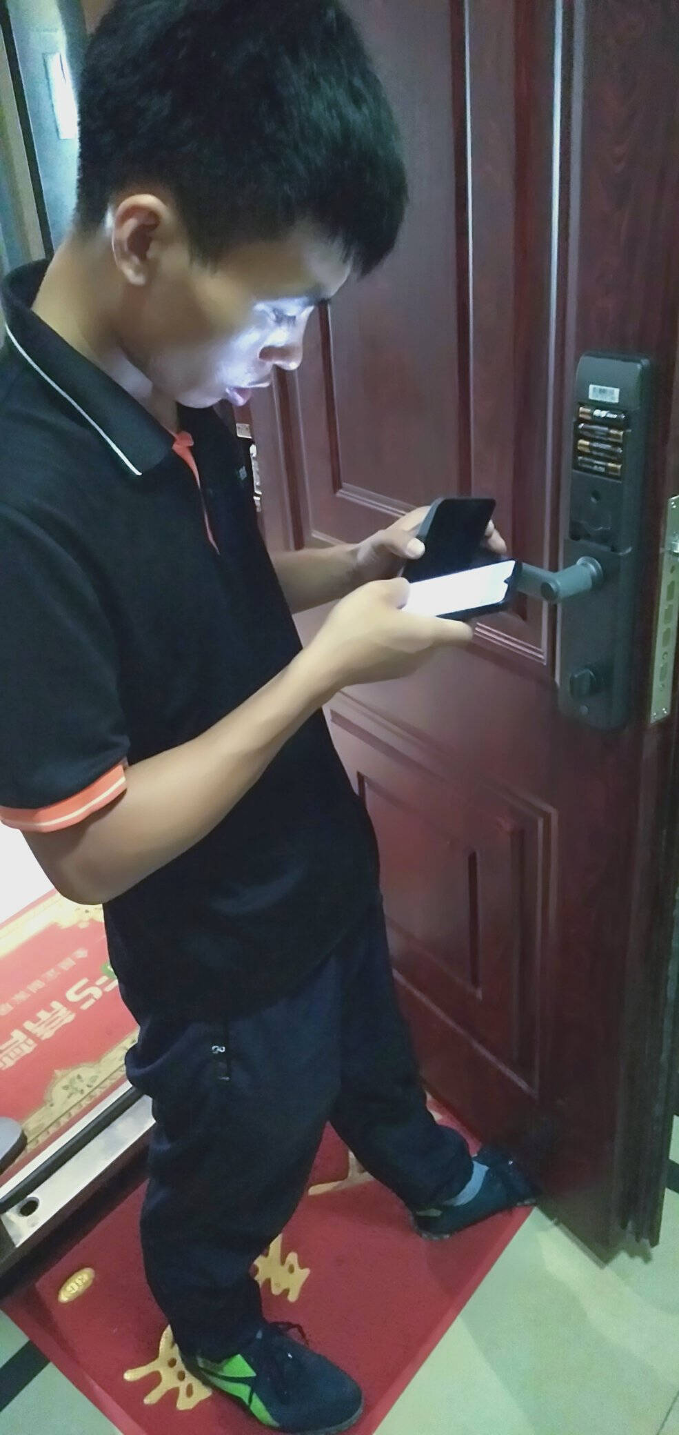 云米VIOMI互联网智能门锁Link-右开-普通锁体智能门锁c级指纹锁防盗门家用公司密码锁电子锁小米灰