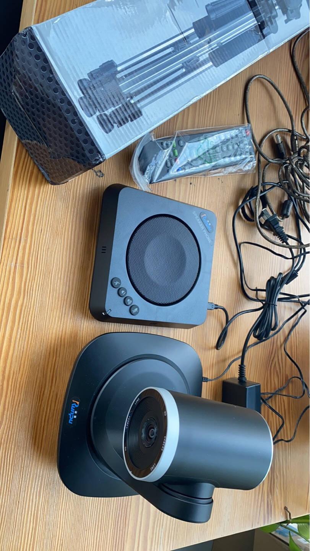润普Runpu视频会议全向麦克风无线连接(适合10-40㎡中小型会议室4米拾音)桌面扬声器RP-M55W