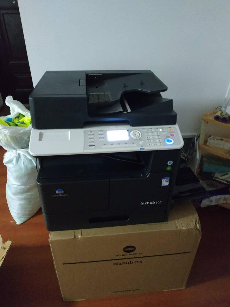 柯尼卡美能达bizhub205i/215iA3黑白复合机打印复印扫描多功能一体机办公商用205i官方标配+双面器+输稿器