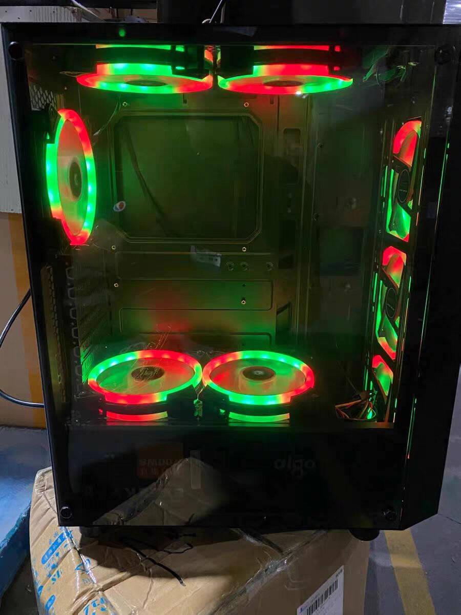 爱国者(aigo)A15全侧透黑色分体式游戏办公电脑机箱/支持ATX主板/亚克力全侧透/240冷排/可走背线