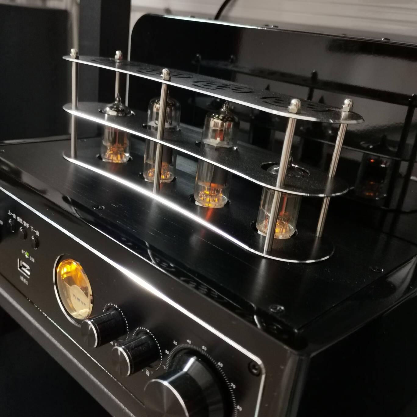 山水(SANSUI)电子管胆机功放发烧级音响hifi功放电脑手机蓝牙音箱家用电视组合音响2.0低音炮黑色