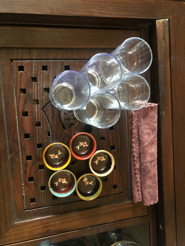 龙寅功夫茶杯礼盒套装窑变陶瓷茶具家用主人杯鲤鱼小茶杯鱼杯5个装