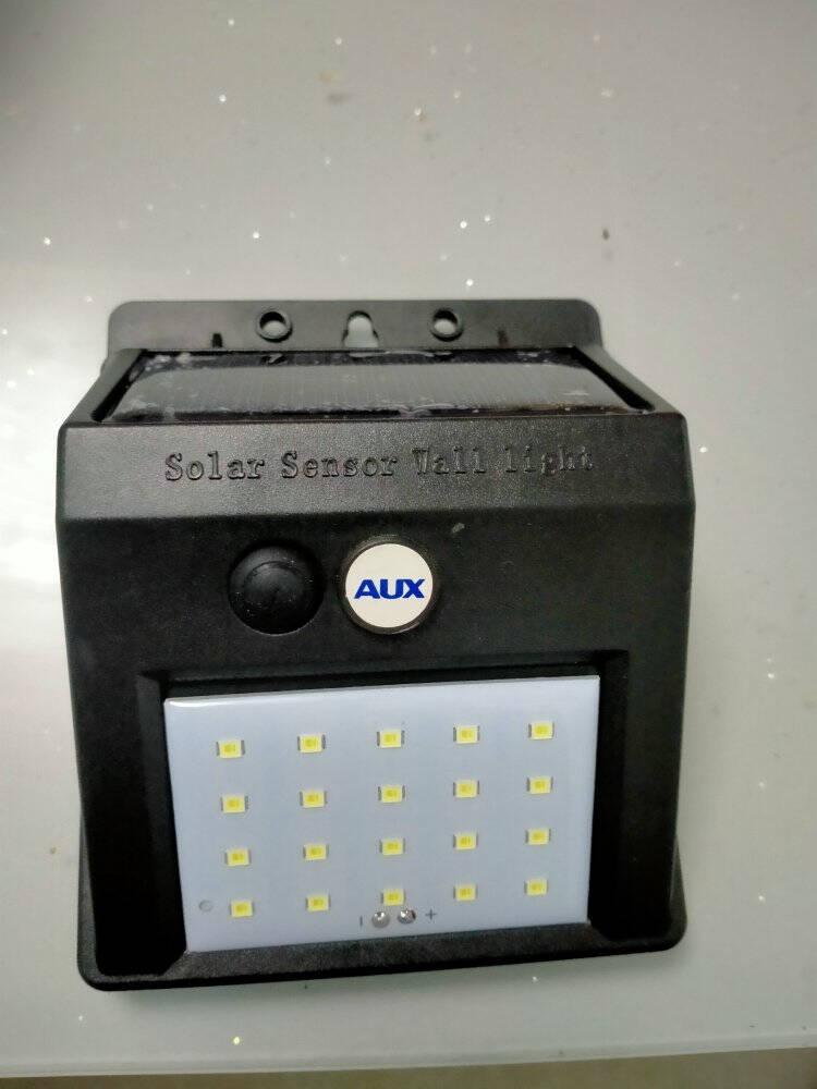 奥克斯(AUX)太阳能灯led庭院灯大功率户外灯新农村室内外路灯工厂车间超亮防水家用照明灯珠20W-光控+带遥控-照明面积约30平方