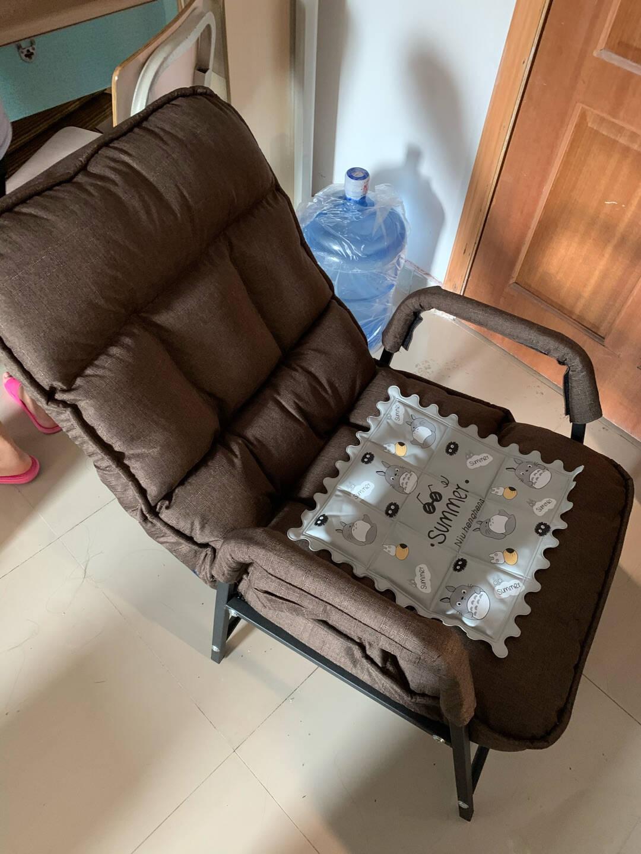 电脑椅家用懒人沙发椅电竞椅卧室休闲书房宿舍办公椅折叠椅子靠背灰色