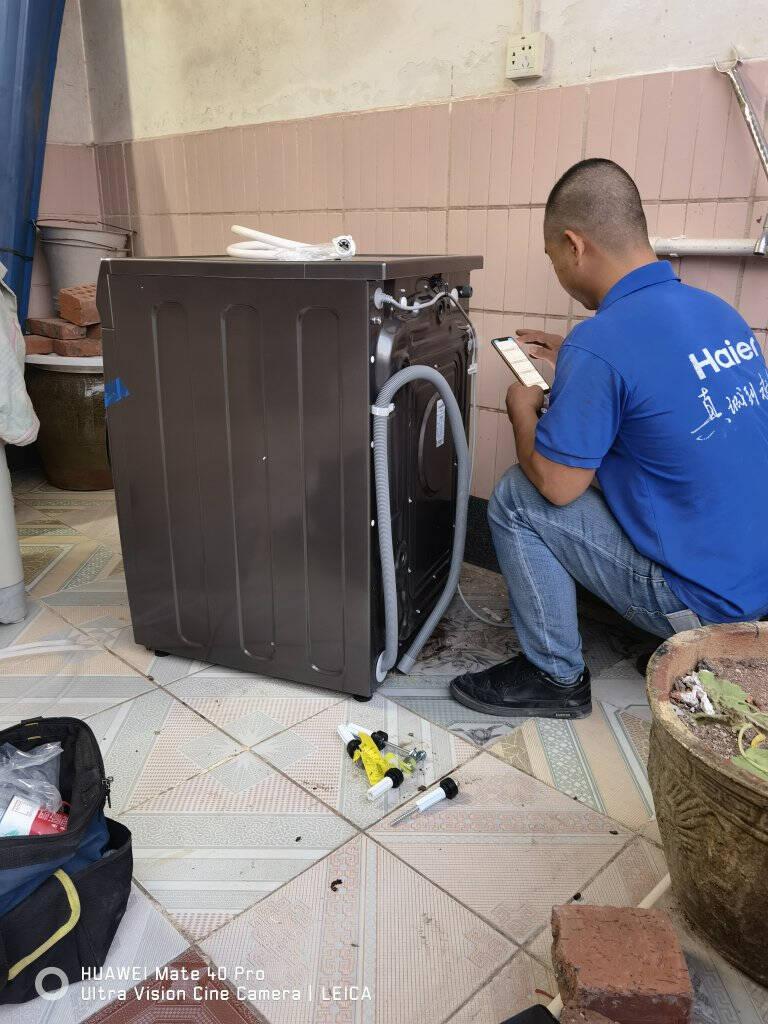 海尔(Haier)热泵烘干机家用干衣机除菌螨10KG滚筒式衣干即停玉墨银外观免熨烫GBN100-189U1晶彩系列