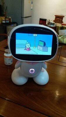 辰妃(CHENFEI)9英寸触屏儿童小爱同学智能机器人小艾小度早教学习机1-9年级同步教育语音对话蓝色80G+4G手表+视频通话+AR阅读