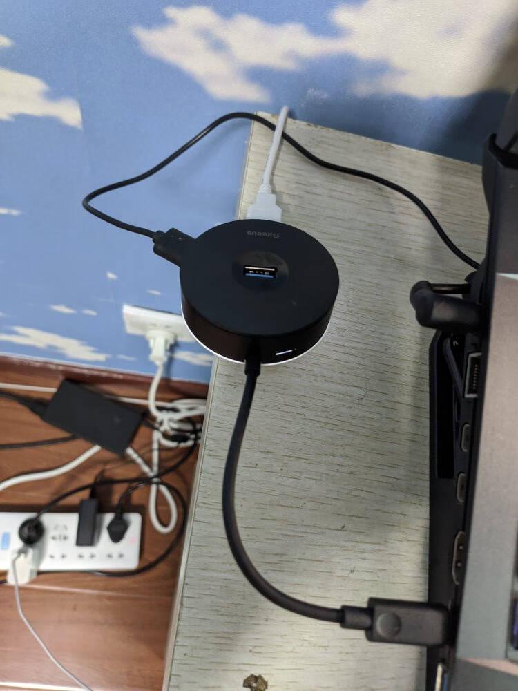 倍思Type-C扩展坞六合一苹果MacBookPro/Air华为小米电脑USB-C转HDMI线4K投屏网口拓展坞转换器分线器转接头