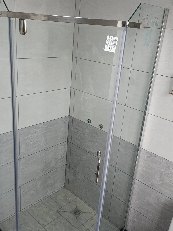 九牧(JOMOO)整体淋浴房钻石型钢化玻璃隔断卫生间浴室干湿分离M7842【钻石型含石基-900*900】