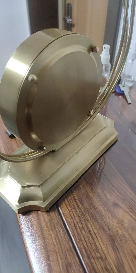 伯莎丹顿新中式轻奢座钟高档家用客厅桌面创意摆钟台式大号复古钟表欧式银杏叶摆件静音时钟摆设