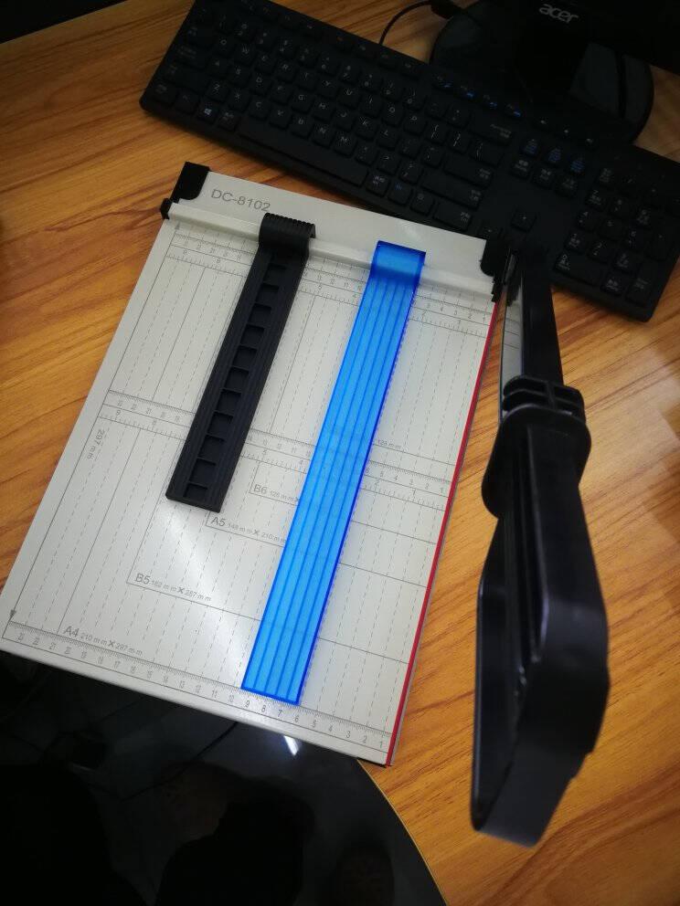 道顿DC-8101A4幅面多功能手动小型修边刀相片名片封皮纸照片钢质加厚手动切纸机裁纸机DC-8101切纸刀塑料底座A4