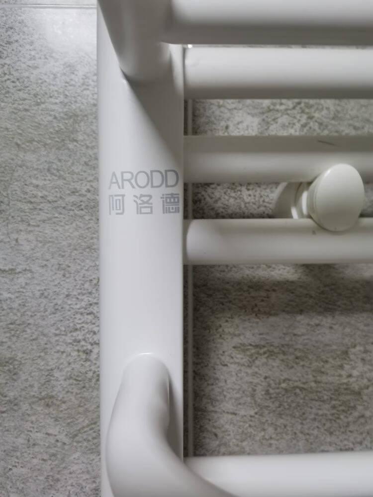 阿洛德小背篓暖气片卫生间耐腐精钢散热器集中自采暖供暖卫浴厨房背篓式暖气片置物架升级雅黑款(背筐)高800*400中心距