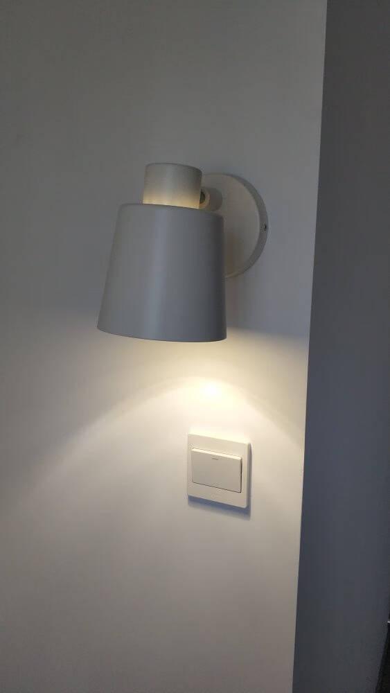 欧普照明墙壁灯客厅灯家用卧室床头灯具楼梯ins北欧风壁灯挂灯BD【悦木生活】白色铁艺灯罩【需另配E27灯头光源】