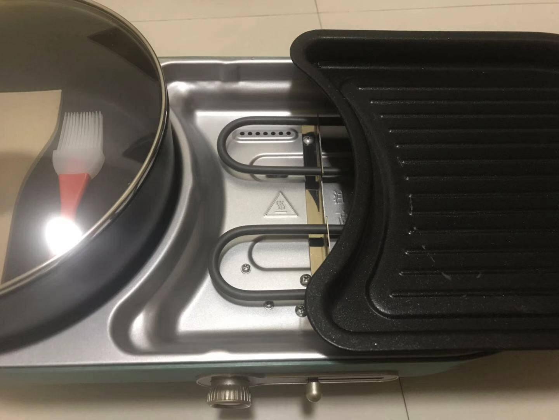 小熊(Bear)电烧烤炉家用多功能料理锅电烤炉烤涮一体电火锅可拆卸烤肉锅DKL-C15L1