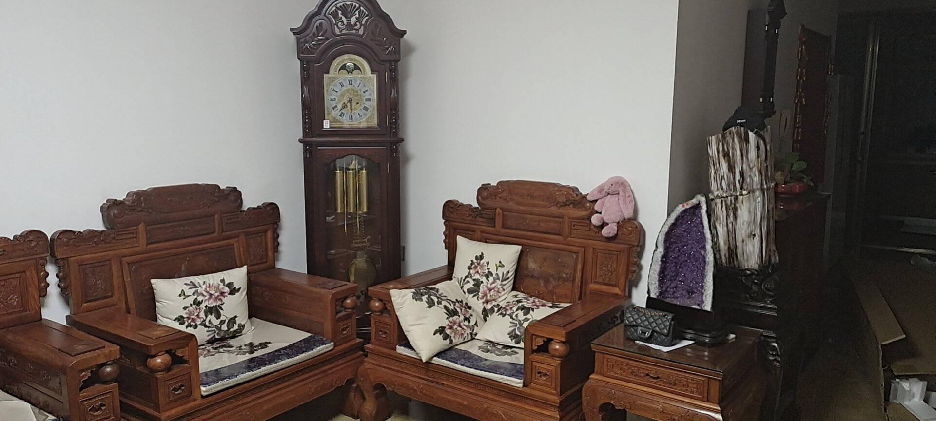 北极星(POLARIS)落地钟高档实木中式客厅立钟经典大气创意复古机械钟钟表装饰座钟L136720天机芯