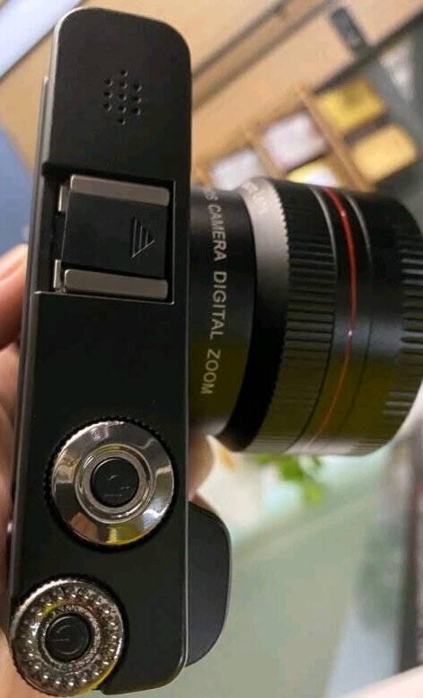 松典DC1012数码照相机微单卡片机入门级单反傻瓜相机小型家用翻转自拍屏64G+补光灯+广角镜【送6重礼】标配