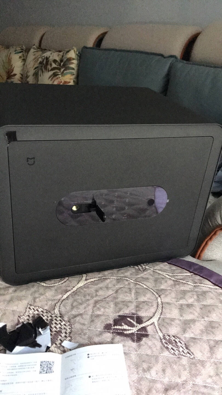 小米米家智能保管箱高30CM指纹密码6种解锁方式办公家用保管柜保密箱