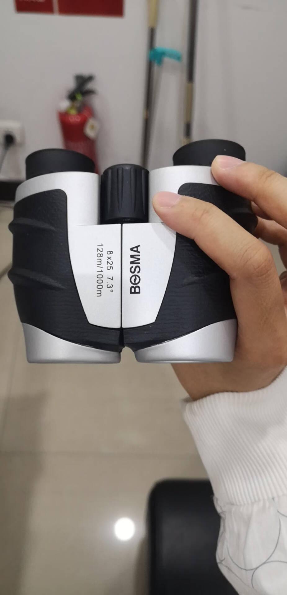 博冠(BOSMA)冲浪10X25山鹰8X25袖珍型反保罗双筒望远镜非红外夜视儿童礼物冲浪10X25