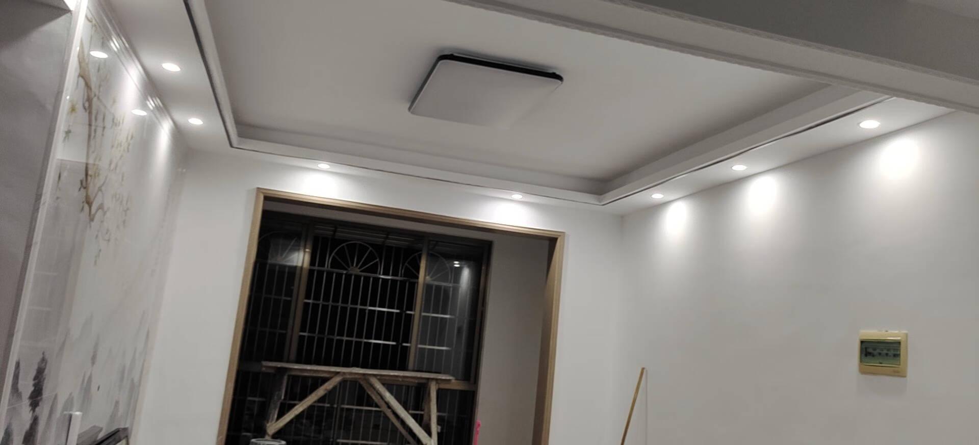 佛山照明(FSL)LED筒灯射灯铝材三色客厅吊灯天花灯防雾灯过道嵌入式孔灯牛眼灯5W白玉银边开孔75-85mm