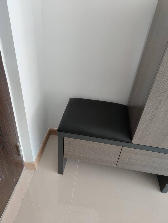 木月鞋柜北欧玄关柜现代收纳柜小户型多层储物柜鞋柜带抽屉换鞋凳雅致木纹灰