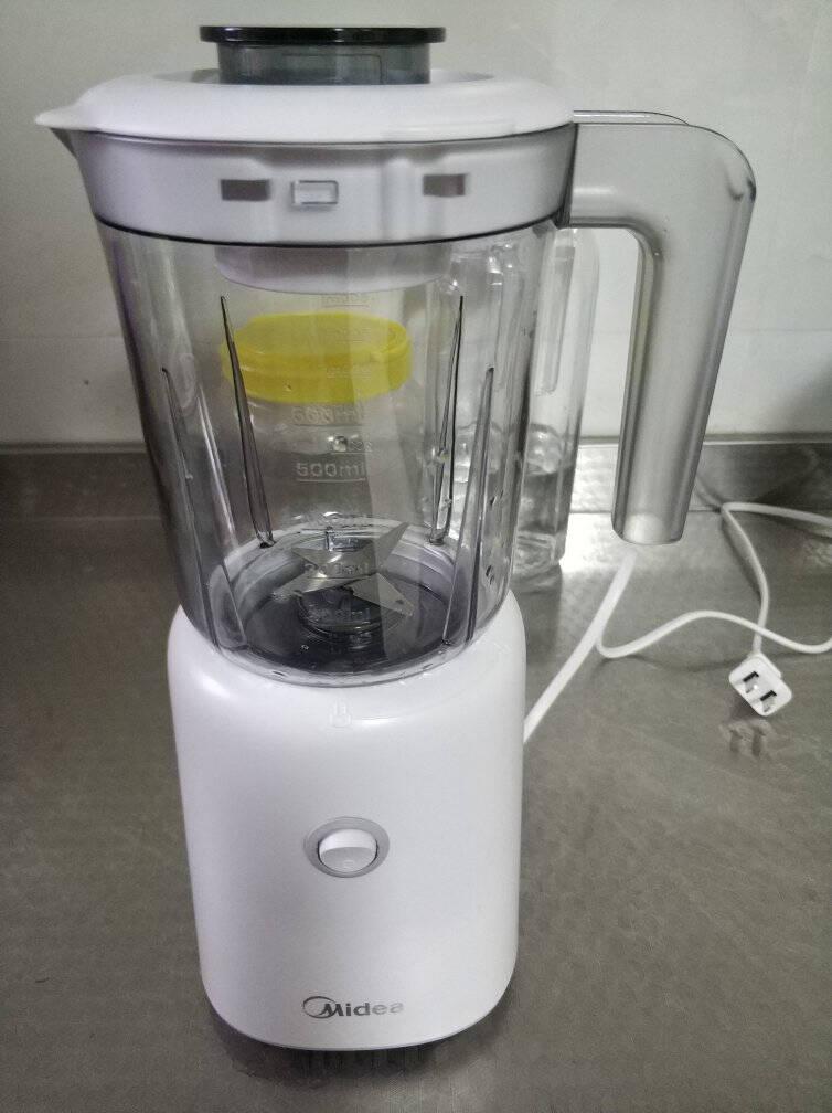 美的(Midea)榨汁机家用多功能料理机婴儿辅食机搅拌机研磨机果汁机WBL2501B丨标配版(搅拌杯)