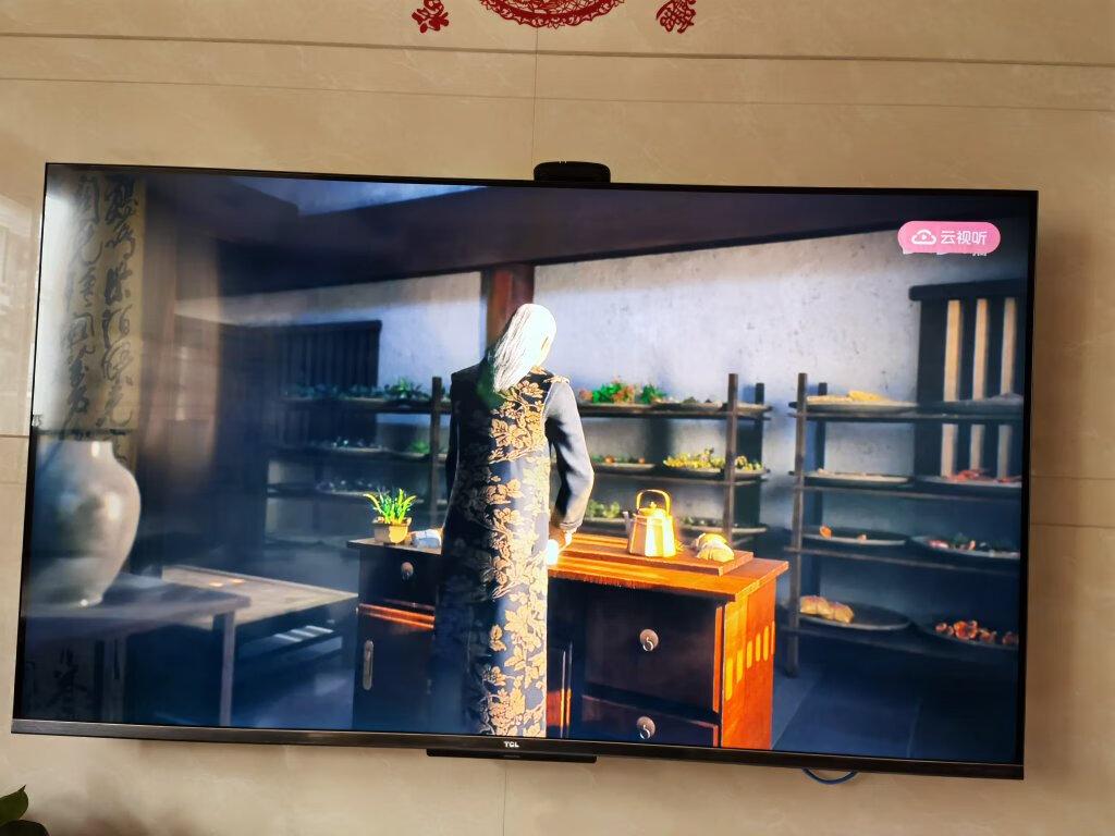 TCL高色域55英寸轻薄电视,免遥控轻松控制电视