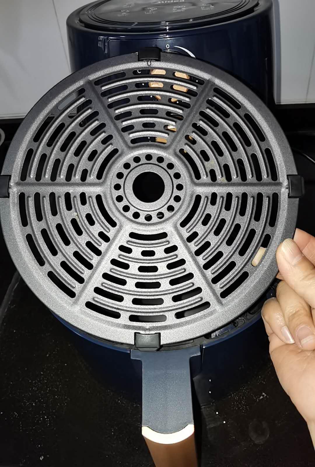 美的Midea空气炸锅无油4.5L大容量家用智能电炸锅煎炸锅MF-KZ45Q5-401B