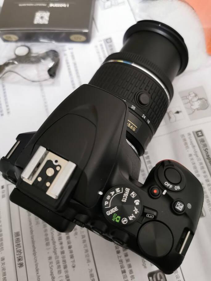 尼康(Nikon)D3500数码单反相机入门级高清数码家用旅游照相机D3400升级版尼康AF-P18-55套机(新手初学推荐)套餐一