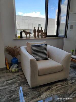 隋巢沙发布艺沙发现代简约沙发客厅小户型羽绒沙发组合客厅乳胶沙发茶几一体定制北欧布沙发1.8米款布套色板顾客收到布板确认后发货