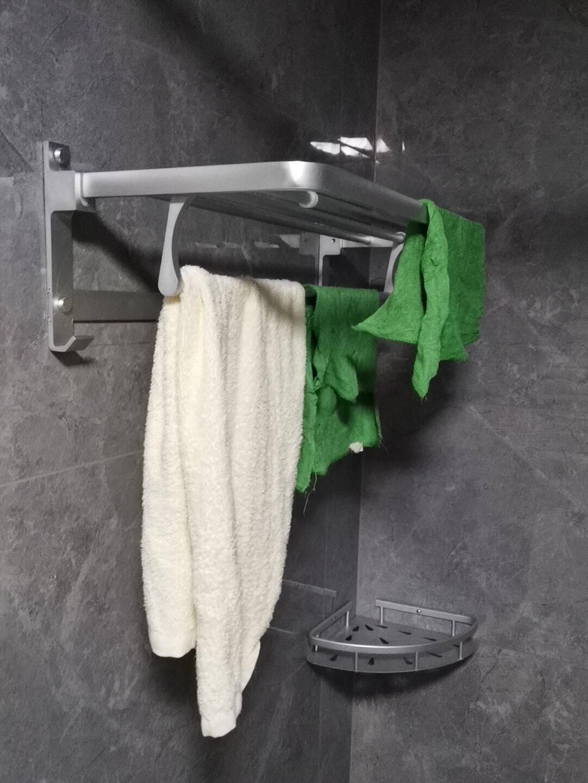 箭牌卫浴(ARROW)挂件毛巾架浴巾架套装太空铝浴室卫生间免打孔五金挂件置物架新款太空铝套装AE5629TZ-6P
