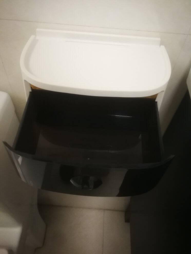 意可可(ecoco)卫生间纸巾盒厕所免打孔纸巾架浴室置物架厕纸盒壁挂防水卷纸筒创意抽纸盒卫生纸架北欧灰+白