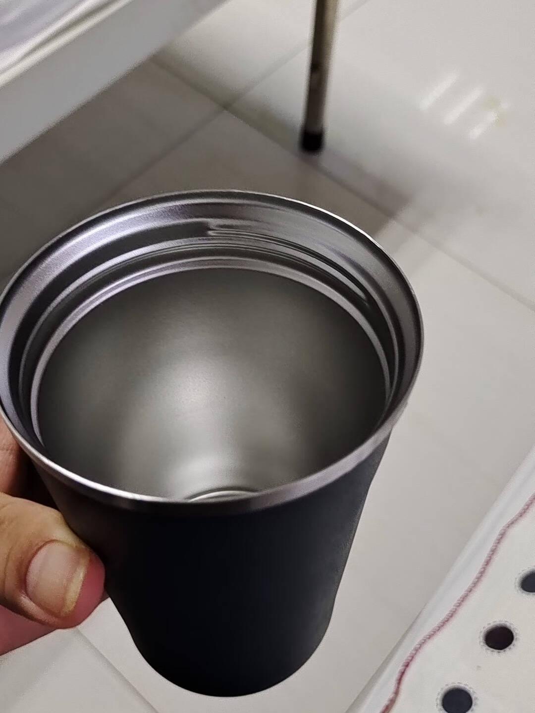 SUCCO保温杯咖啡杯304不锈钢随行杯旅行出差便携水杯大容量车载随身杯情侣杯子带盖男女办公马克杯保温杯-白色380ML【加购-搅拌勺】