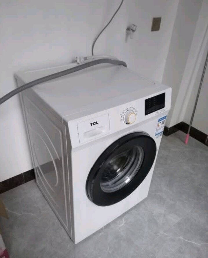 TCL8公斤变频洗衣机节能滚筒超薄全自动家用洗衣机芭蕾白