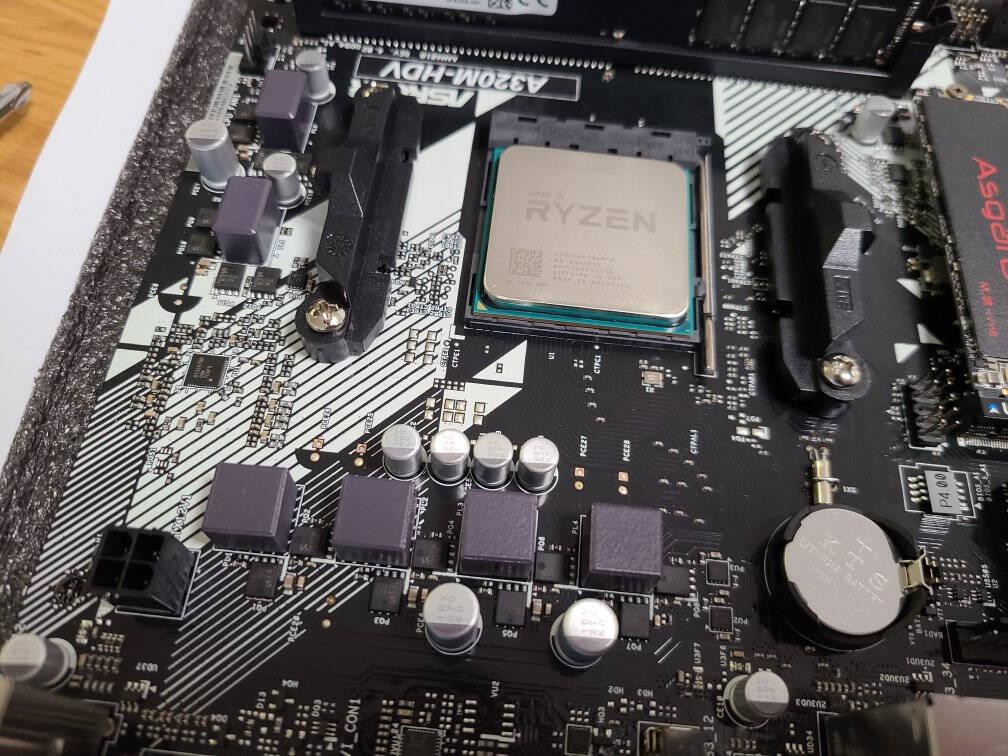 AMD锐龙R53400G/3500X3200G搭华擎A320MHDVR4.0主板CPU套装R53400G套装