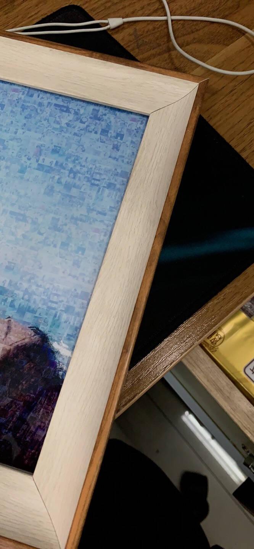 栖域(QIYU)创意相框摆台挂墙5寸7寸8寸10寸12寸16寸A4A3照片框北欧风像框8开画框装裱枯叶白8寸(照片15.2cm*20.3cm)
