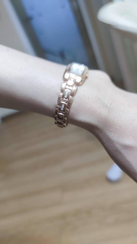瑞士天珺(TANGIN)手表智雅系列方形时尚石英女表钢带手链防水女士手表T1007LWWABA