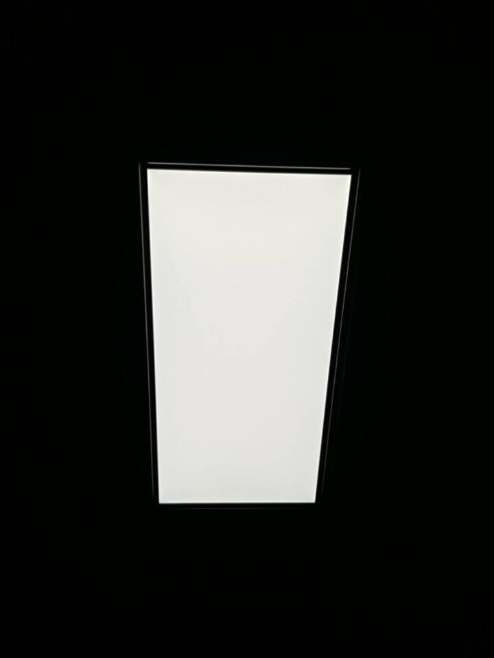 雷士照明厨房灯集成吊顶灯厨卫灯面板灯led吸顶灯铝扣板平板灯卫生间灯银边24W正白光300*600