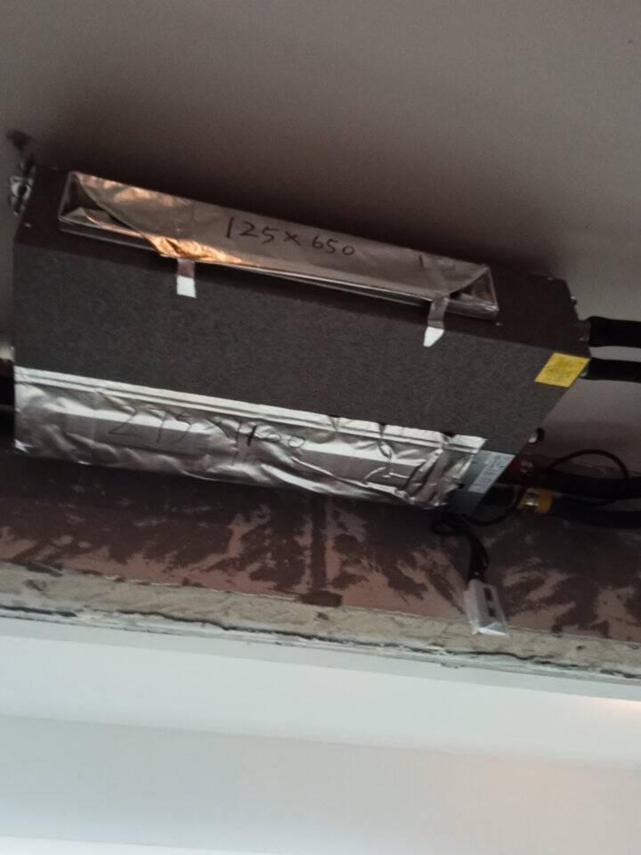 海尔(haier)中央空调风管机一拖一家用嵌入式卡机超薄静音节能卧室客厅冷暖1.5P/2P/3p匹WIFI模块